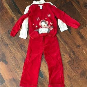 Janie and Jack, matching 3 piece outfit, 4T and 5T